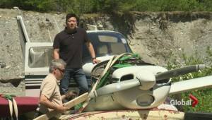 Crashed plane recovered from Pemberton glacier
