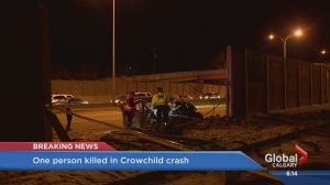 One man dead after Crowchild crash