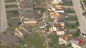 Return home timing uncertain for tornado victims in Angus.