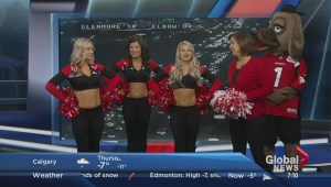 Outriders cheer with Leslie Horton