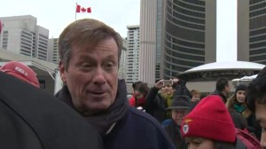 Mayor Tory creates new tradition at City Hall by hitting the ice
