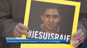 Raif Badawi stage protest on fifth-year anniversary of his detention