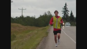 Canadian man running from Port Alberni to California