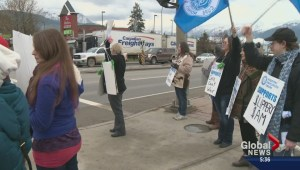 Seniors facility staff rally in Salmon Arm