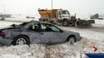 Tiny icy snowflakes lead to big headaches on Calgary roads