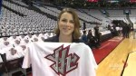 ACC decks out seats with YYZ t-shirts in support of Toronto Raptors Game 5 matchup against Miami Heat