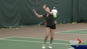 Alberta tennis player bounces back from injury, comes out swinging