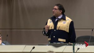 Mayor Naheed Nenshi talks to city council about Langevin Bridge