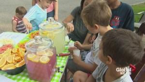 Kirkland lemonade stand for charity