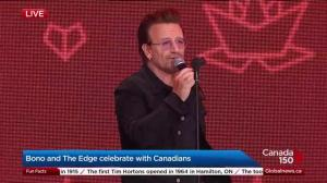 Bono and The Edge celebrate Canada 150 in Ottawa