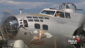 Iconic WWII bomber on a Calgary-area stopover