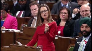 CETA: Conservatives criticize Freeland over tearful trade 'meltdown'
