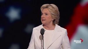 'He spoke for 70 odd minutes and I do mean odd': Hillary Clinton on Trump