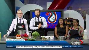 In the Global Edmonton kitchen with Mini Kitchen
