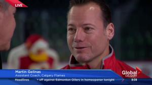 Live on location at the Saddledome: Calgary Flames assistant coach Martin Gelinas