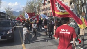 May Day demonstrations in East Vancouver