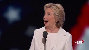 Hillary Clinton criticizes Donald Trump's 'I alone can fix this' comment at DNC