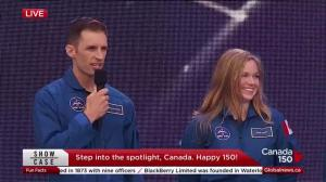 Canada's newest astronauts introduced at 150th birthday celebrations