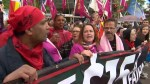 Hundreds rally at Queen's Park calling for fair jobs, minimum wage increases