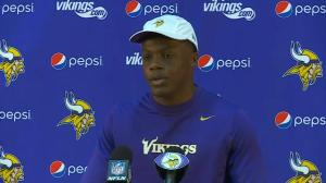 Minnesota Vikings quarterback, head coach comment on Adrian Peterson suspension