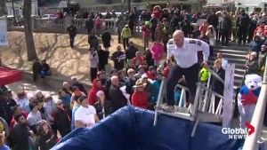 Police take the plunge for Special Olympic athletes in Nova Scotia