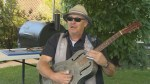 Big Dave McLean performs for Global News prior to BBQ & Blues
