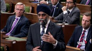 Scheer questions Sajjan over contributions to NATO