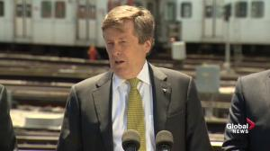 John Tory says SmartTrack will go ahead despite Downtown Relief Line funding announcement
