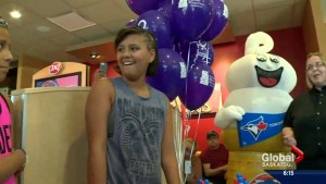 Saskatchewan girl to throw first pitch at Blue Jays game