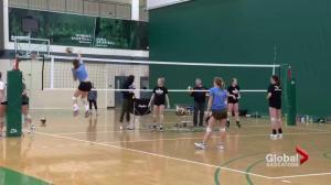Saskatchewan Huskies women's volleyball preps for Alberta Pandas