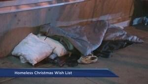 Homeless Christmas wish list
