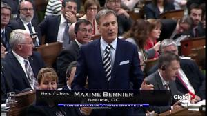 Maxime Bernier questions government regarding Bombardier, Boeing spat