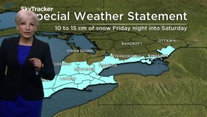 Toronto expected to get another 10 to 15 centimetres of snow