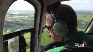 Premier Brad Wall tours Melville flood zone