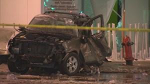 Winnipeg police investigate after morning crash on Portage Avenue
