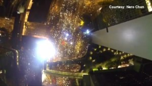 Breathtaking drone footage released of Umbrella Revolution in Hong Kong