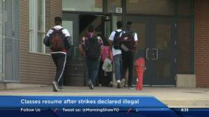 High school classes resume after strikes declared illegal