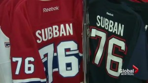 P.K. Subban merchandise on sale