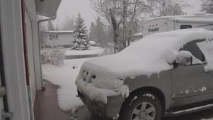 Raw: Fort St John snow
