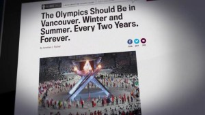Should Vancouver host the Olympics forever?