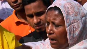 Thousands protest on an anniversary of Bangladesh Rana Plaza disaster