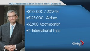 UBC president's questionable travel expenses
