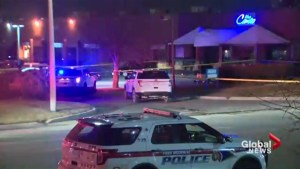 3 shot outside hookah lounge in Woodbridge