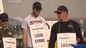 Drivers picket Burnco after company locks them out