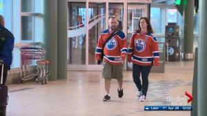 Edmonton Oilers fans fly south to Anaheim for NHL Playoffs