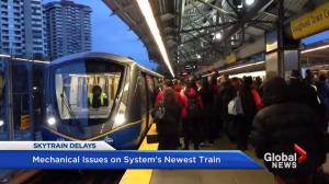 TransLink's newest train causing delays due to mechanical issues