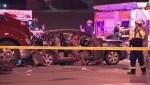 3 injured after transport truck rear-ends cab in Brampton