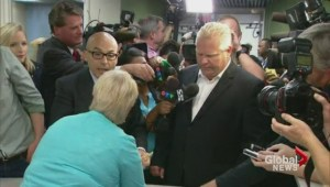 Rob Ford withdraws from mayoral race, Doug to run