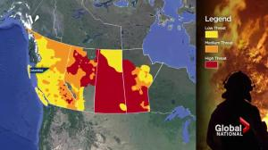 Warm temperatures prompt increased wildfire fears in Western Canada