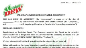 Scam targeting job seekers uses Mountain Dew logo